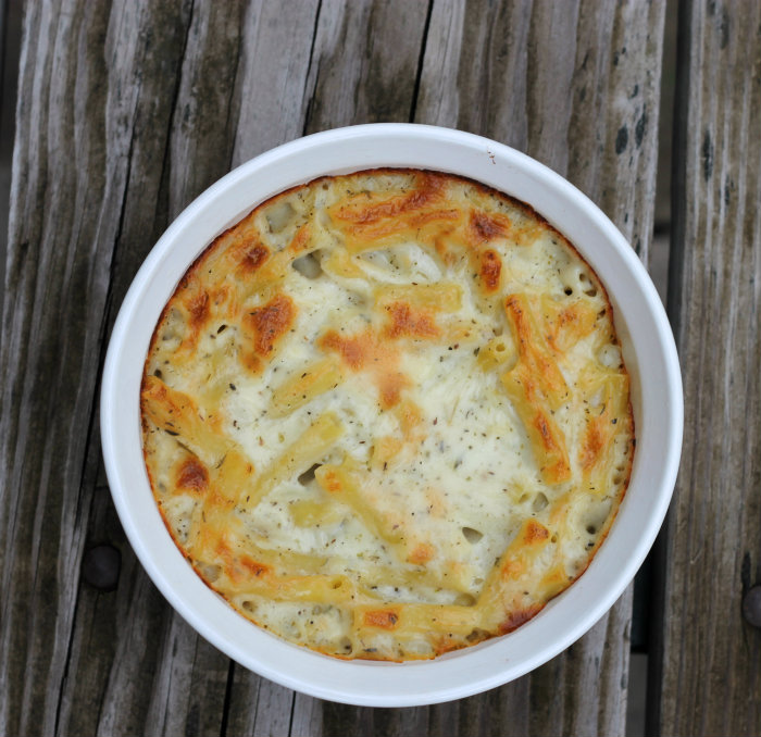 Baked Italian macaroni and cheese
