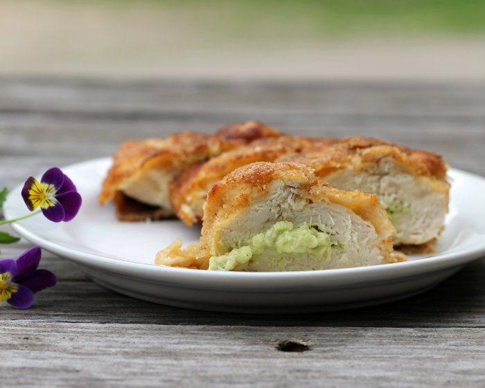 Avocado stuffed chicken breast