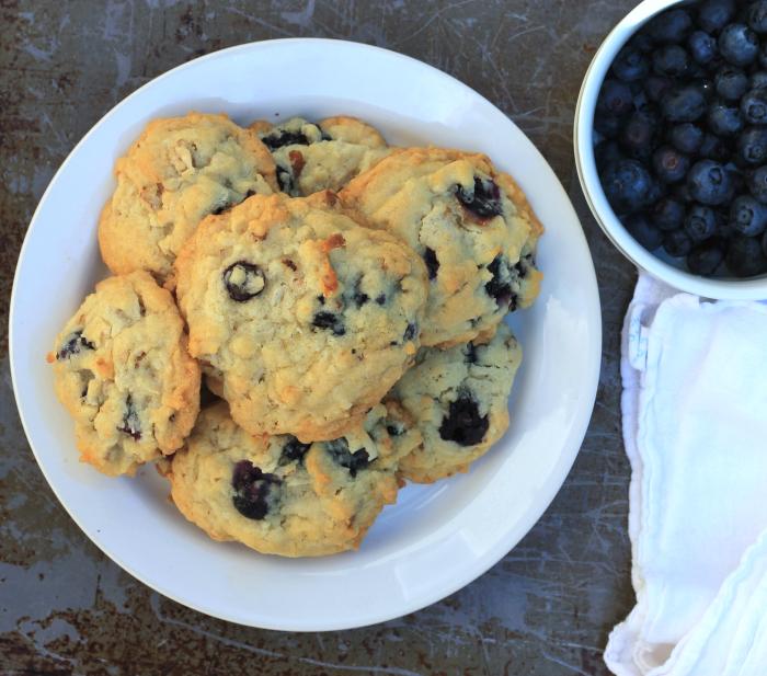 Blueberry coconut pecan cookies