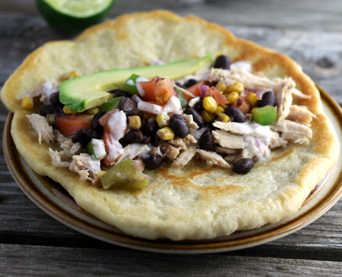Roasted Pork with Black Bean Salsa and Garlic Yogurt Sauce