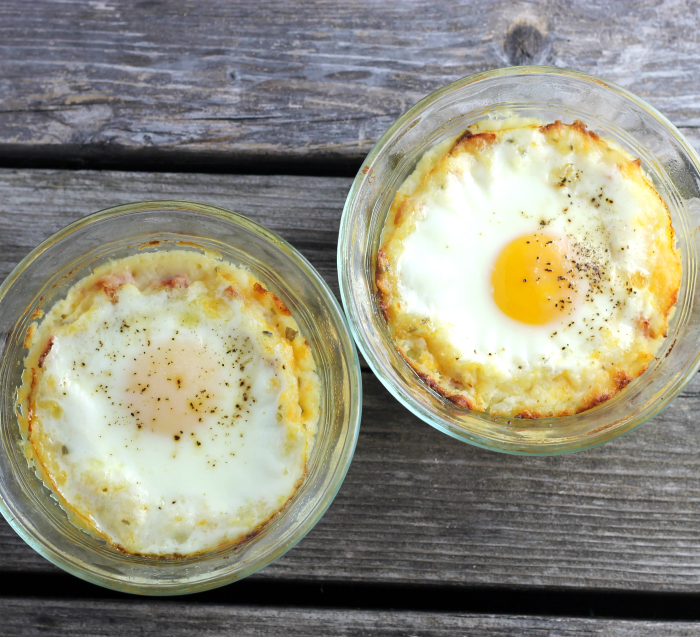 Baked Leftover Mashed Potatoes with Eggs