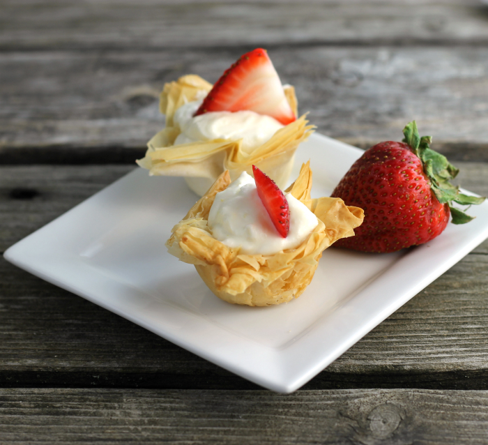 Tangy Lemon Cream Cheese Filled Phyllo Cups