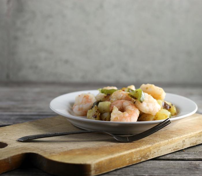 Shrimp Potato Skillet