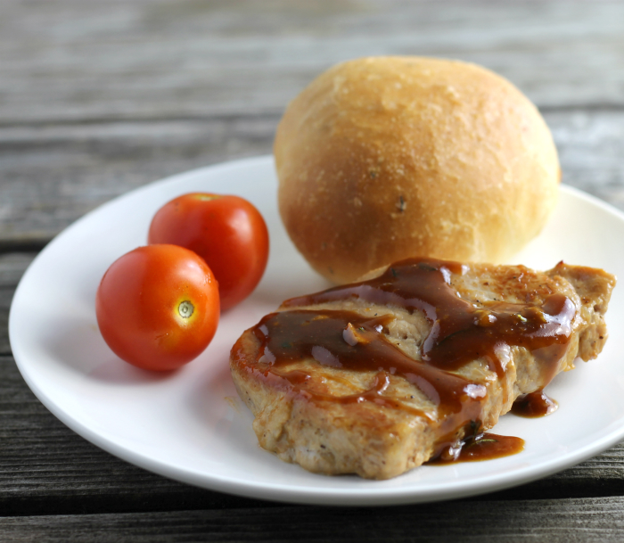 Pork Loin Chops with Honey Dijon Mustard Sauce