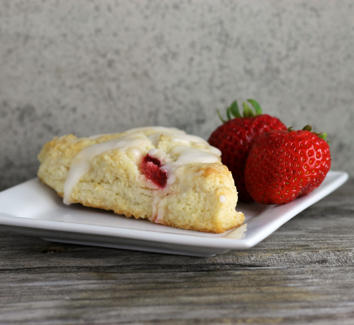 Strawberry Sour Cream Scones with Lemon Icing - Words of ...
