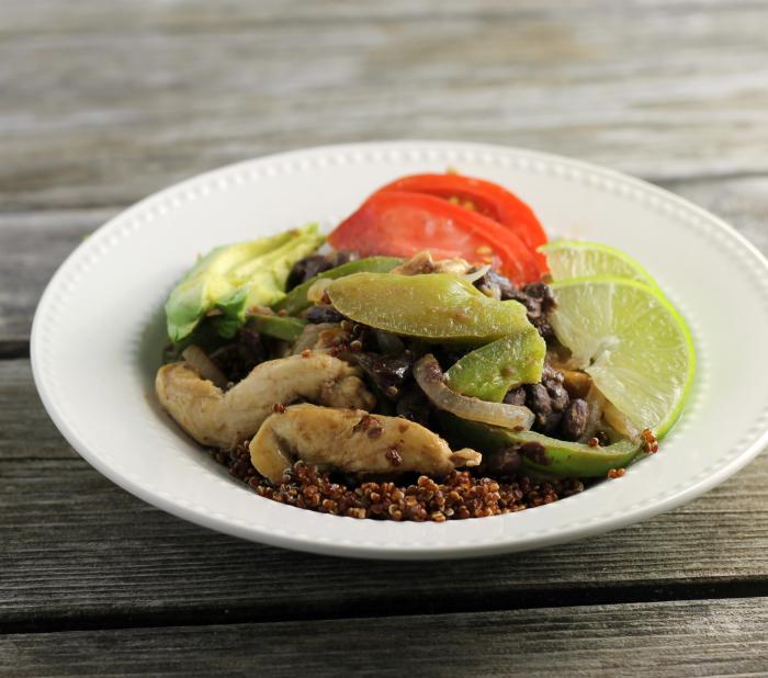 Southwest Chicken Breast Quinoa Bowls