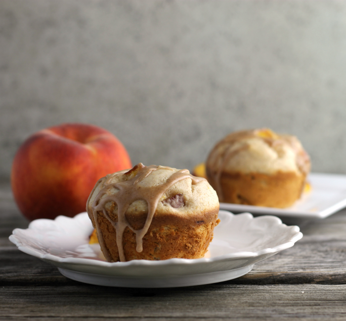 Cream Cheese Peach Muffins