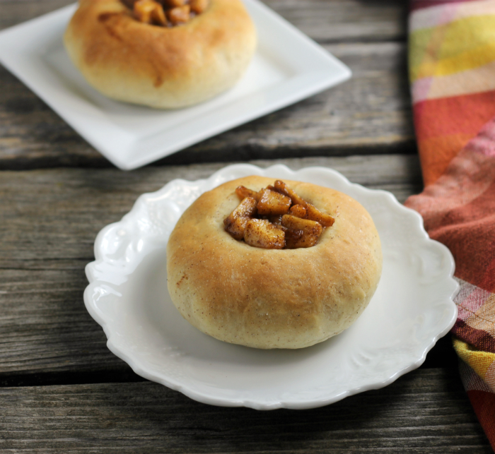 Caramelized Apple Topped Buns