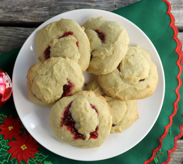 Cranberry Dab Of Dough Cookies