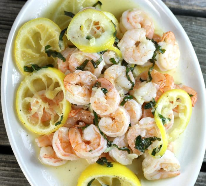 Lemon basil shrimp is made with fresh basil using one pan and is finished in under 30 minutes.