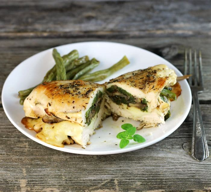 Italian stuffed chicken breast is made with a few ingredients but is full of flavor and is aperfect meal for during your busy work week.