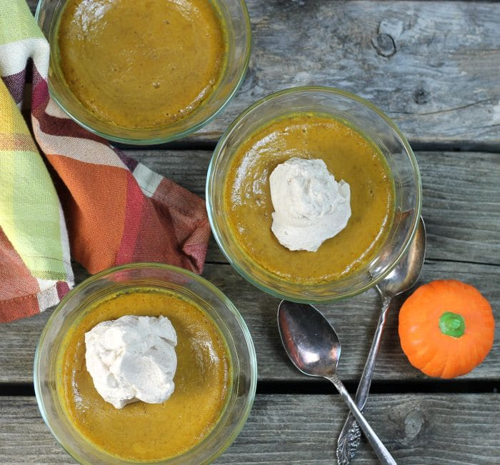 Baked Pumpkin Pudding iseasy, creamy, and delicious the perfect dessert for now that it is pumpkin season.
