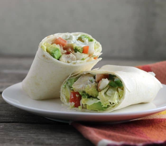 Chicken Wrap with Savory Cream Cheese Spread