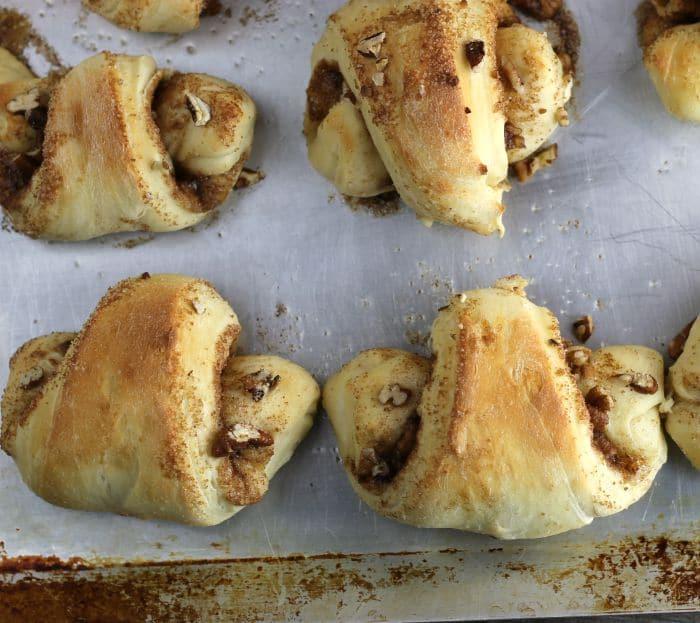 Pecan Cinnamon Yeast Roll-Ups