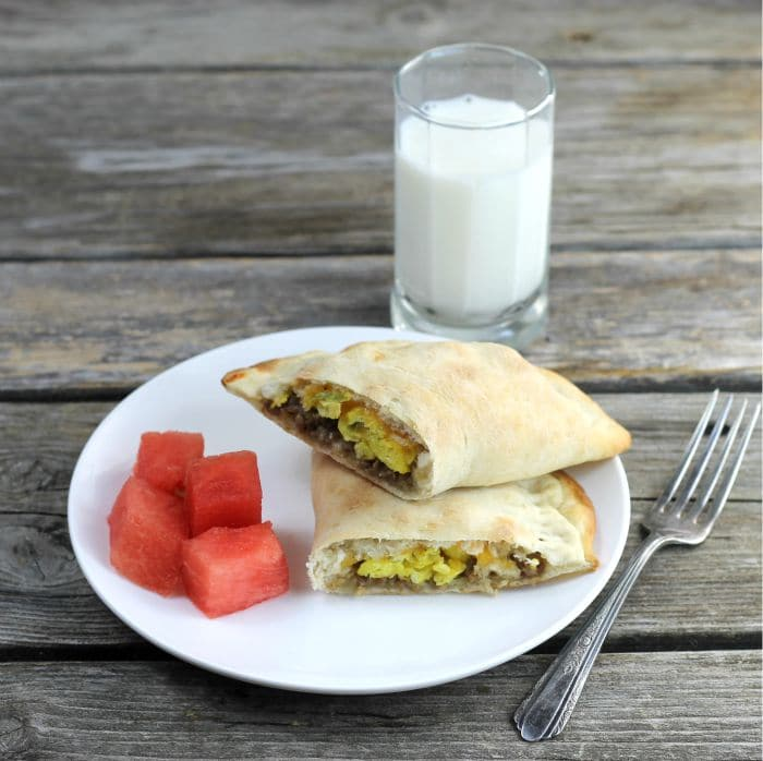 Egg Sausage Breakfast Calzones