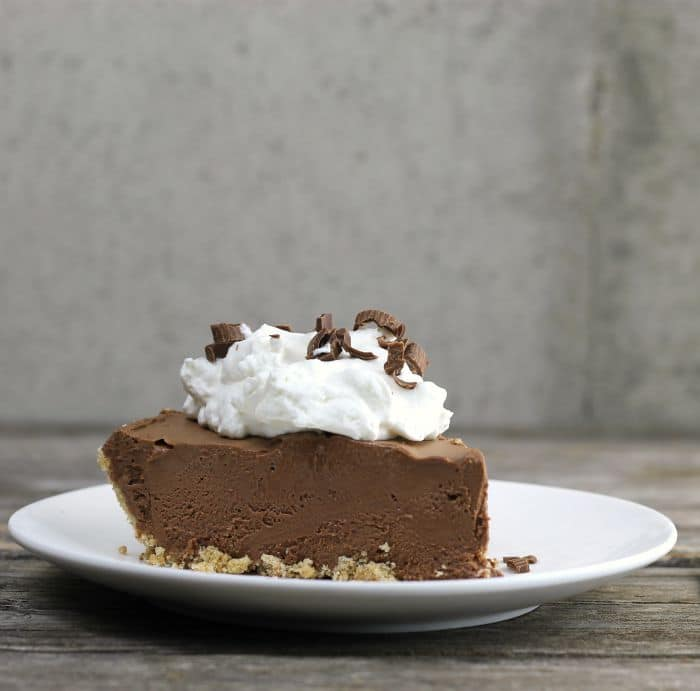 Frozen Chocolate Cream Cheese Pie