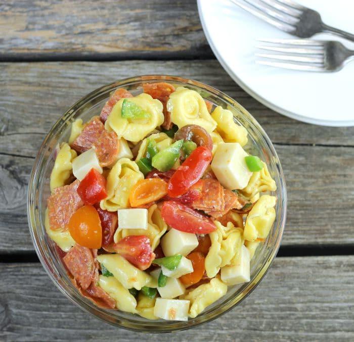Cheese Tortellini Italian Pasta Salad