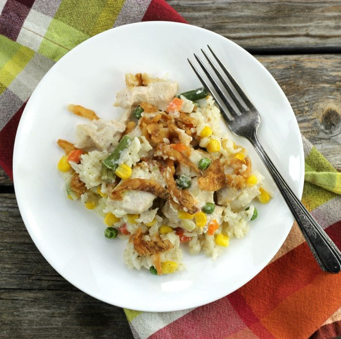 Chicken Vegetable Rice Casserole