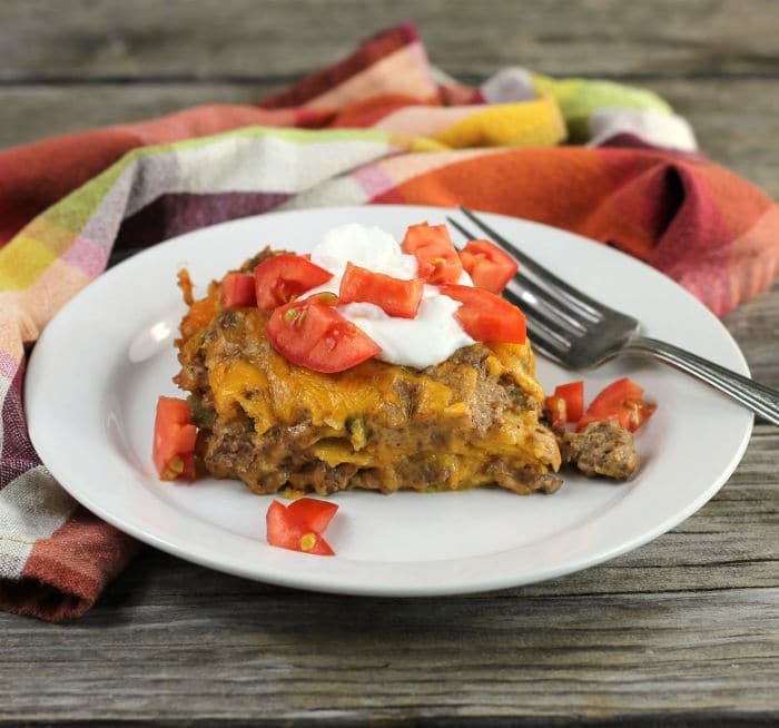 Ground Beef Tortilla Casserole