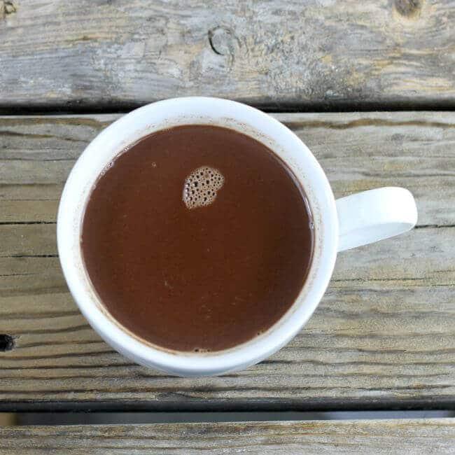 A mug of hot chocolate.