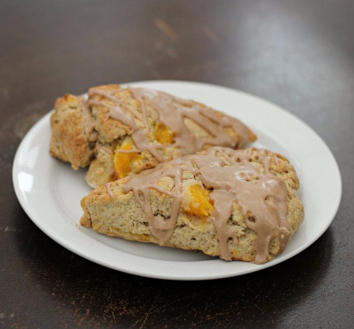 orange scones plate