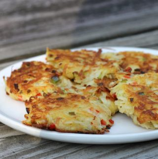 Potato and pepper fritters