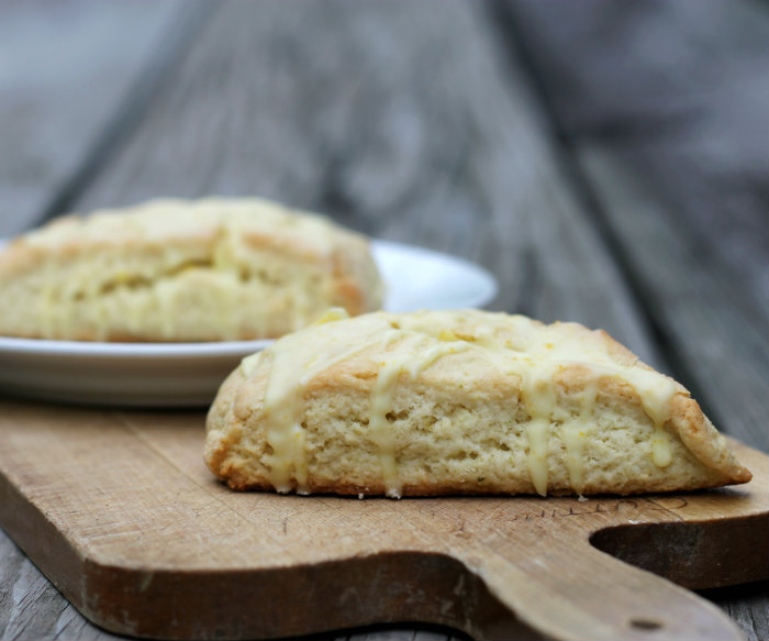Lime Scones with Orange Icing