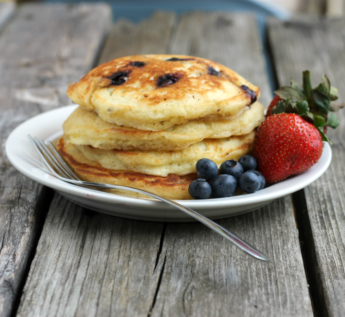 Lemon blueberry pancakes