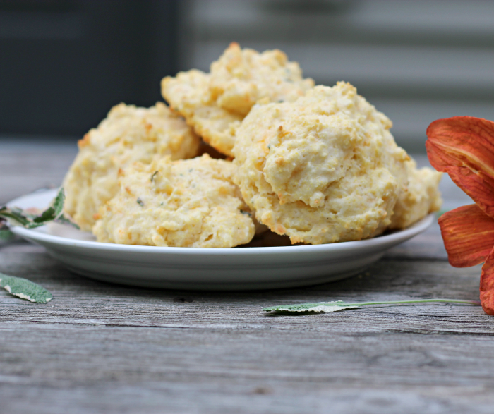Sage Cornmeal Cheddar Biscuits