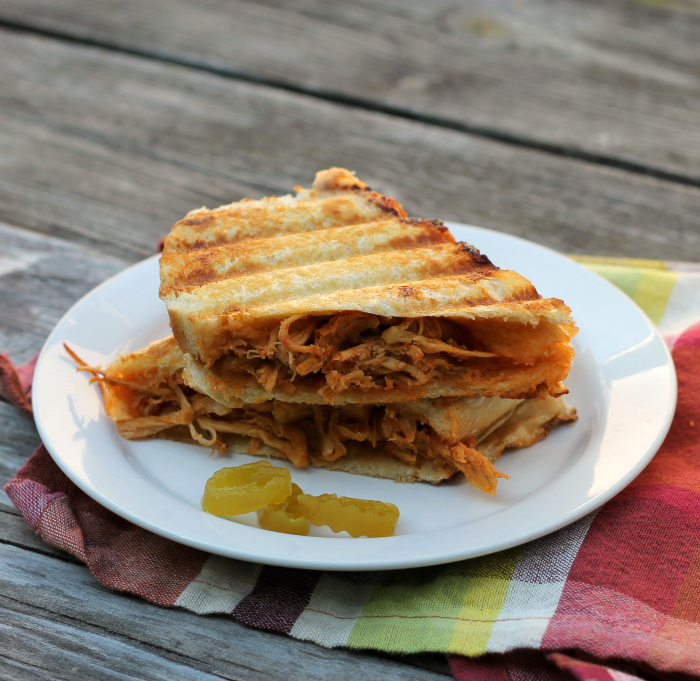 BBQ pulled chicken Panini