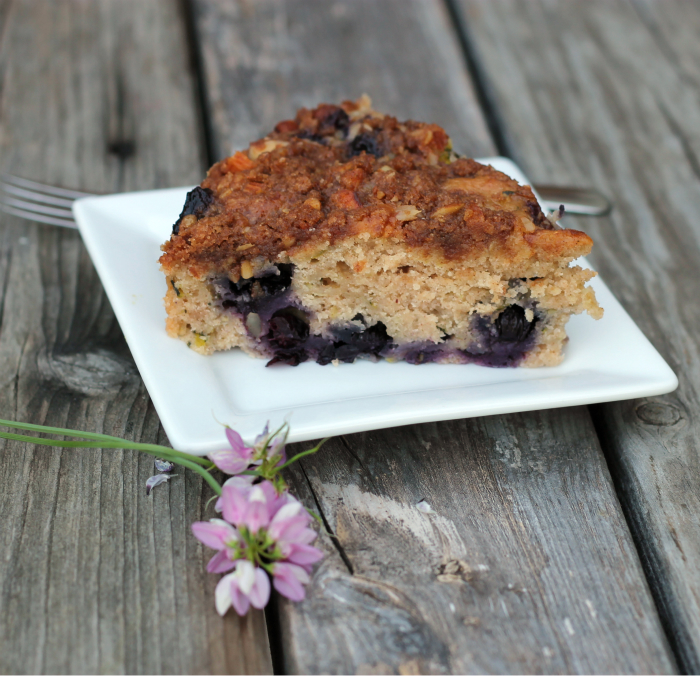blueberry zucchini coffeecake