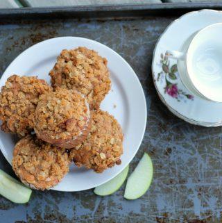 Sour cream apple muffins
