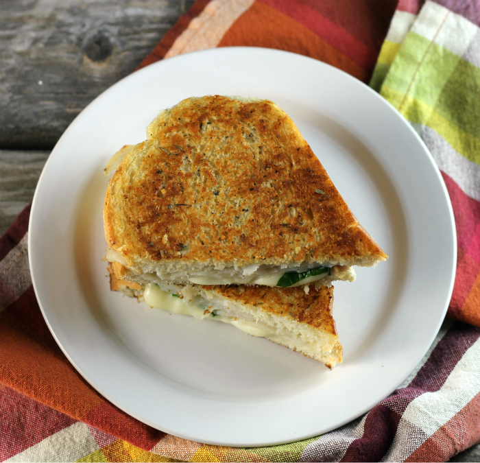 Italian Turkey Parmesan Grilled Cheese