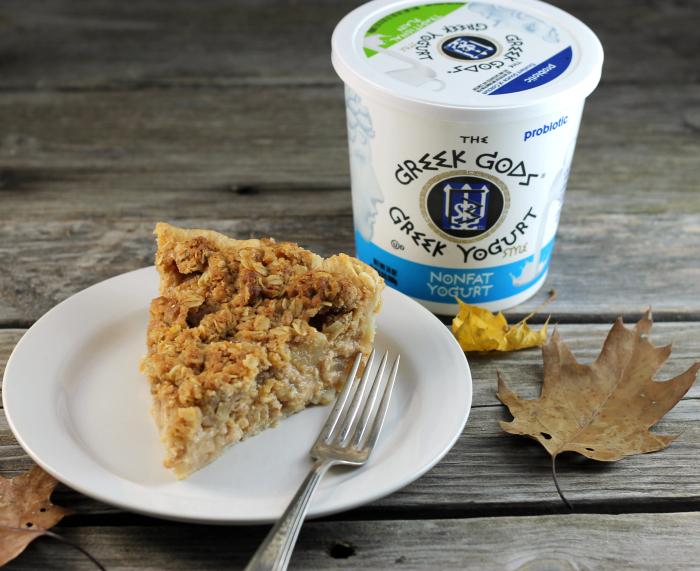 Greek Yogurt Pear Pie