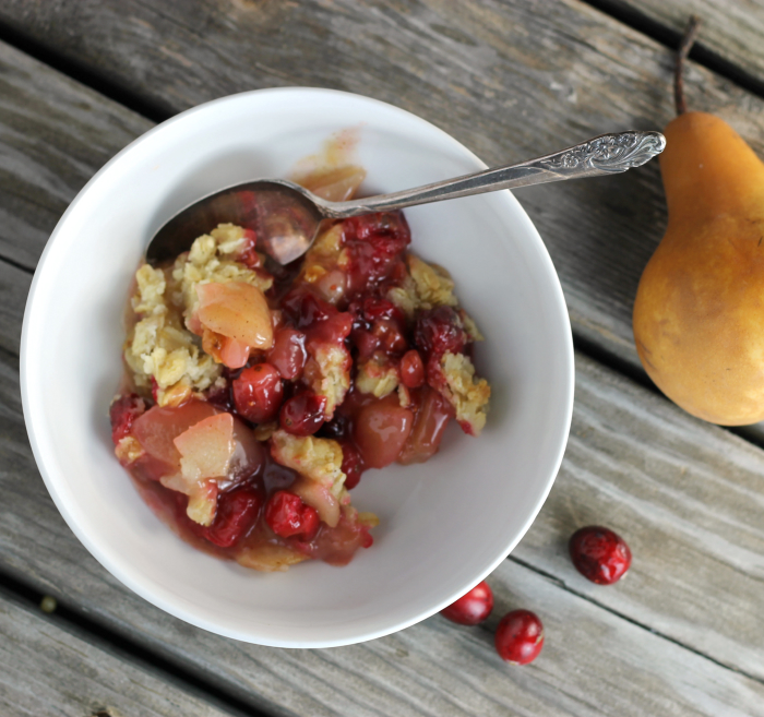 Pear Cranberry Crumble