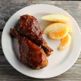Slow-cook BBQ chicken drumsticks