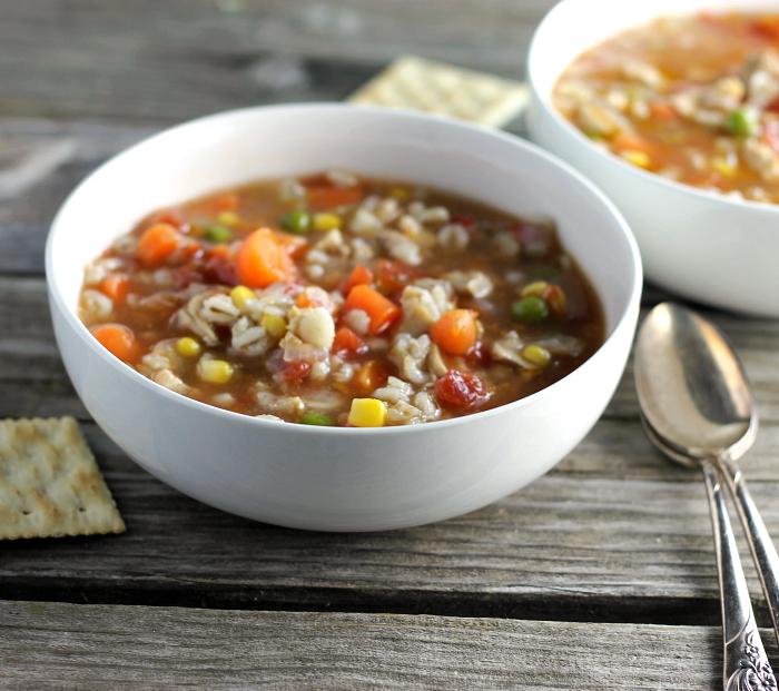 Vegetable Chicken Barley Soup