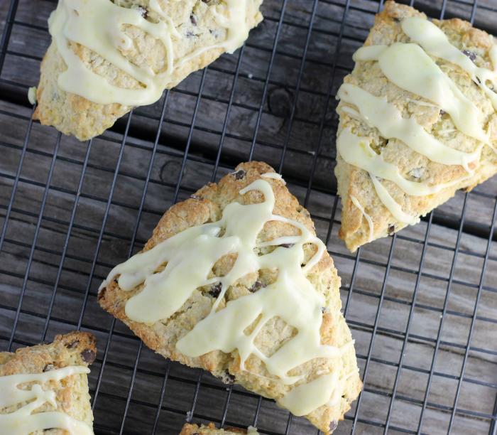 Orange chocolate chip scones