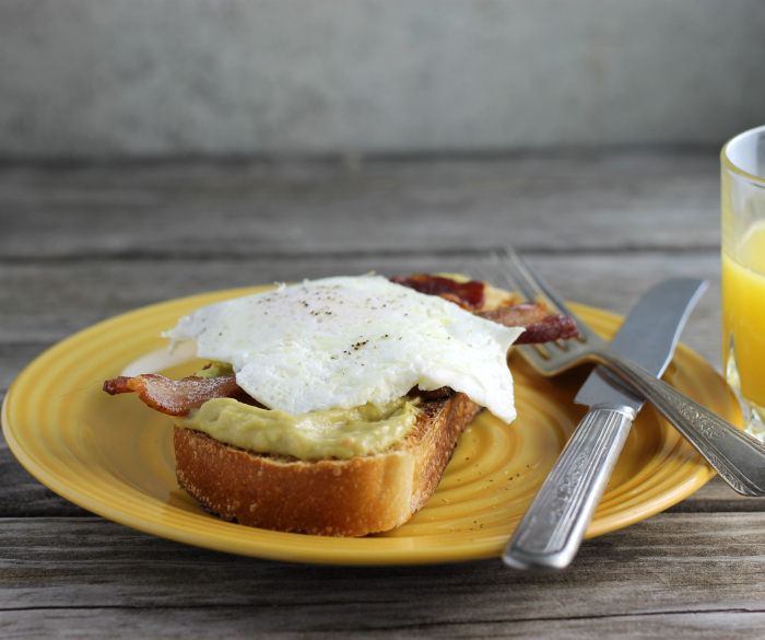Avocado Toast with Bacon and Egg