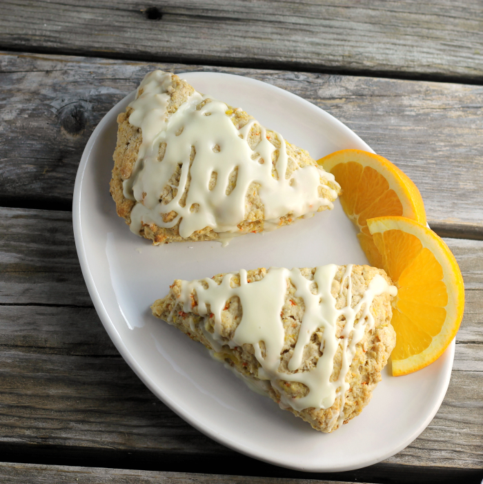 Orange Carrot Scones
