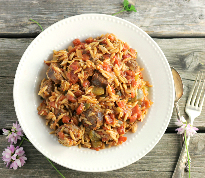 Italian Sausage and Orzo