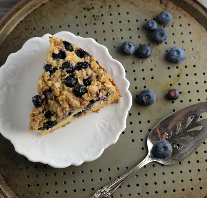 Blueberry Honey Oat Breakfast Cake