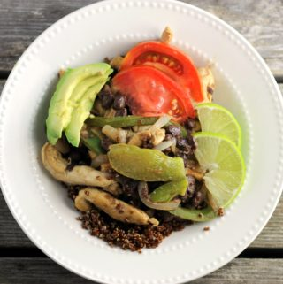 Southwest Chicken Breast Strips Quinoa Bowls