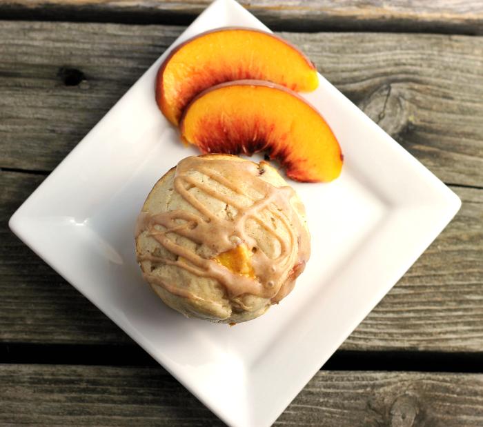 Cream Cheese Peach Muffins