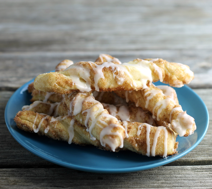Cinnamon Sugar Twists With Vanilla Icing
