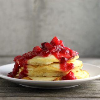 Cranberry Apple Topped Pancakes