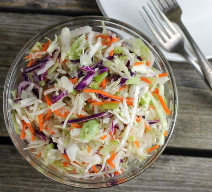 Homemade vinegar based coleslaw dressing