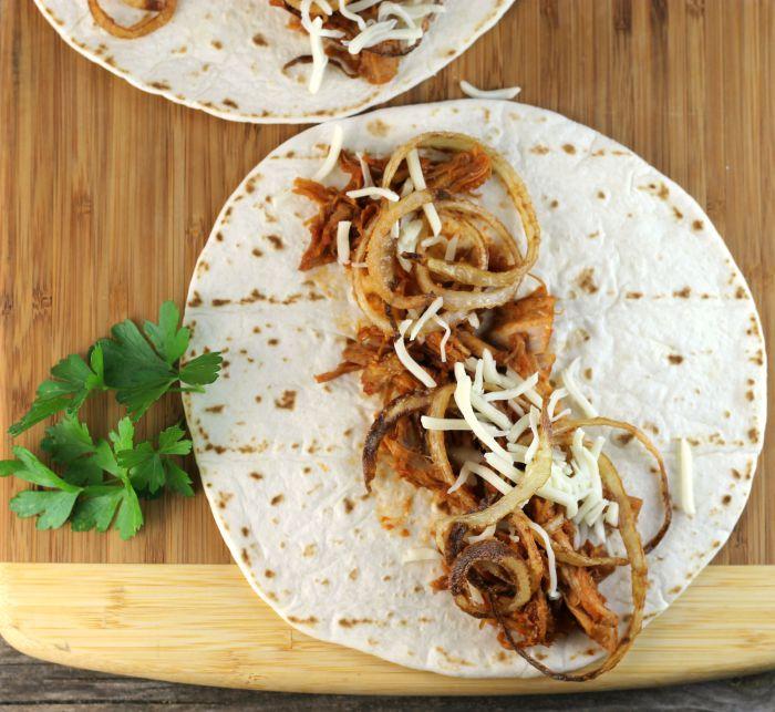BBQ porktacos are not your everyday tacos. A fun way to service BBQ pork.