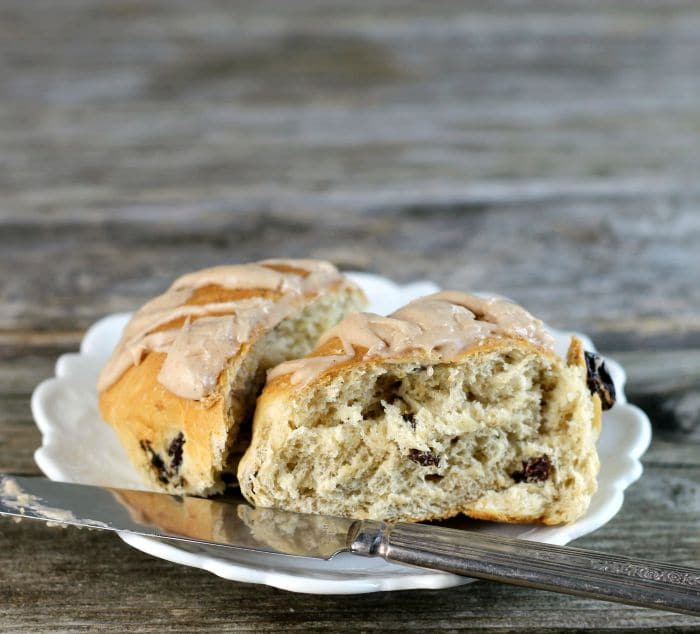 Cinnamon raisin oatmeal buns a simple hearty bread that is perfect for breakfast or any time of the day any time of the day you like.