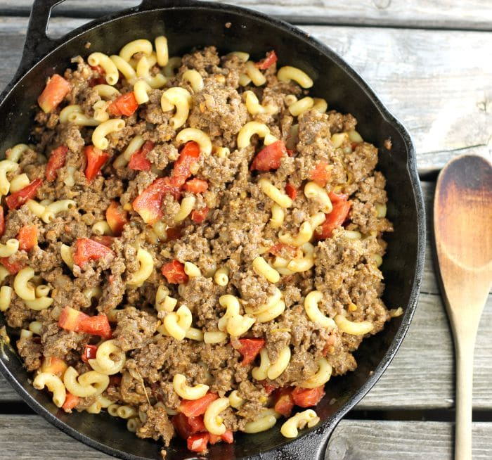 Cheeseburger Pasta Skillet is an easy meal that will be on the table before you know it and the whole family will be asking you to make it over and over again.